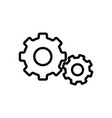 thin line settings gear icon vector image