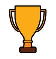 trophy award cup pedestal icon vector image vector image