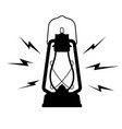 vintage kerosene lantern icon on a white isolated vector image