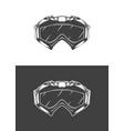 vintage monochrome detailed mask vector image vector image