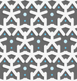 White shapes with blue dots on dark gray pattern vector image vector image