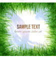 with blue sky and green grass vector image vector image