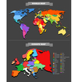 World map template vector | Price: 1 Credit (USD $1)
