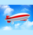 zeppelin on sky composition vector image vector image