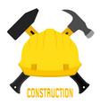 construction worker s helmet and hammers vector image