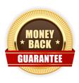 Golden medal Money Back guarantee vector image
