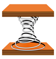 Spiral on a stand vector image