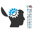 Open Mind Gear Icon With Free Bonus vector image