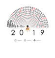 2019 calendar template with idea light bulb vector image vector image