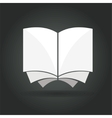 Abstract book concept isolated on black background vector image