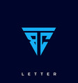 abstract emblem letter template vector image vector image