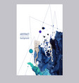 Abstract watercolor banners with blots and lines