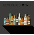 Alcoholic drinks menu vector image vector image