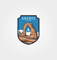 arches national park emblem logo sticker patch vector image
