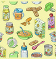baby food child healthy nutrition and vector image