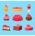 Backery With Strawberry Collection vector image