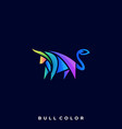 bull colorful design template vector image vector image
