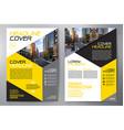 business brochure flyer design a4 template vector image vector image
