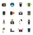 camera and accessory icon set