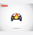 car fired vehicle insurance icon flat pictograph vector image vector image