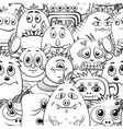Cartoon Contour Monsters Seamless vector image vector image
