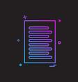 check list document icon design vector image
