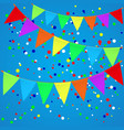 colorful confetti background with flags vector image vector image