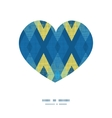 colorful fabric ikat diamond heart silhouette vector image