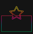 continuous line drawing box border with star vector image