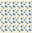cute indigo flower with dot seamless pattern vector image vector image
