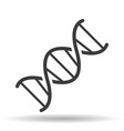 dna helix icon line style vector image vector image