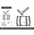 Drum line icon vector image vector image