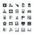 Electronic Cool Icons 7 vector image vector image