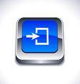 Entrance 3d button vector image vector image