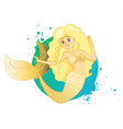 golden joyful mermaid vector image