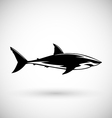 Great white shark sign logo on a white background vector image vector image