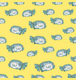 green fish seamless pattern vector image