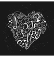 Hand drawn romantic poster vector image