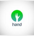 hand icon logo vector image vector image