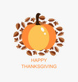 happy thanksgiving icon of pumpkin vector image vector image