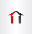 home house icon with arrow up vector image