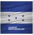 honduran waving silky flag isolated on gray vector image
