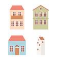 houses cottage facade exterior architecture icons vector image vector image