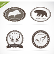 Hunting labels set vector image