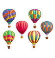 icons of hot air balloons sketch pattern vector image vector image