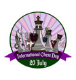 international chess day with vector image