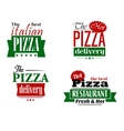 Italian pizza restaurant logo label flyer set vector image