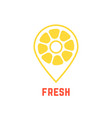 lemon icon like map pin vector image vector image