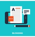 mobile blogging vector image vector image