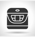 monochromatic multicooker icon with hovering vector image